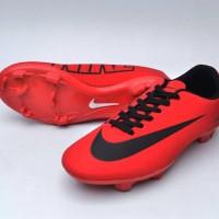 sepatu bola dewasa nike mercurial red black