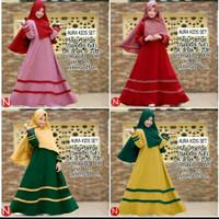 Maxi dress anak 8-10/gamis kids/gaun pesta muslim/longdress/baju ngaji