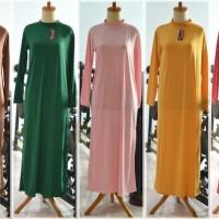 Dalaman Gamis baju muslim kaftan manset panjang Modern
