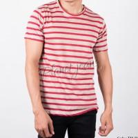 Baju kaos distro salur polos kaus oblong pria belang abu merah