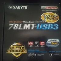 motherboard gigabyte 78lmt-usb3, soc am3+, ddr3 bekas
