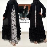 abaya gamis hitam arab murah terbaru mesir dubai ori saudi OUTER SIFON