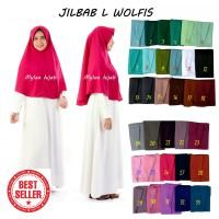 Jilbab instan Size L bahan WOLFIS Woolpeach Premium Grade A murah