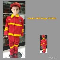 baju pemadam kebakaran anak/damkar anak/baju anak/kaos anak