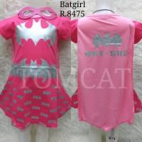 Dress Kostum Anak Cewek Bat Girl Pink Silver Baju Superhero