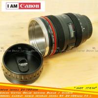 Mug Gelas Lensa Kamera Termos 400ml Panas Dingin Mirip Canon 24-105mm