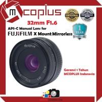 Lensa Mcoplus 32mm F1.6 Lens for Fujifilm X Mount Mirrorless Camera