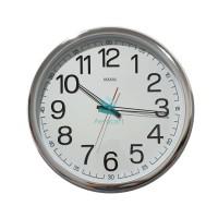 Jam Dinding SAKANA 715 Warna Putih Chrome Ukuran 50 cm