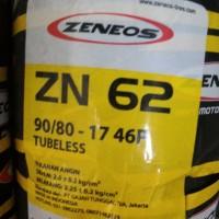 Ban Zeneos Tubeless 90/80-17 Zn62