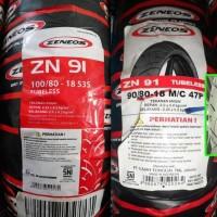 Ban Tubeless Zeneos 90/80-18 dan 100/80-18 Paket Depan Belakang ZN91
