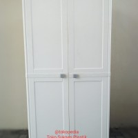 lemari plastik CLUB susun 4 dengan 2 pintu besar Summer edition WHITE