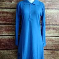 New S-XL Baju Kaos Polos Muslimah Polo Lacoste Panjang Syari Busui -