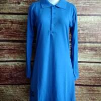 New Baju Kaos Krah Polo Tunik Muslimah Panjang BIREL olahraga uk S -