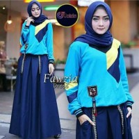 Pakaian Wanita Dewasa Set Baju Fashion Wanita Jubah Muslim Terbaru