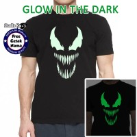 Baju Kaos Anak dan Dewasa Venom - Glow In The Dark