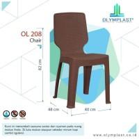 Kursi Sender Bangku Plastik Olymplast Rotan Anyaman Makan OL 208