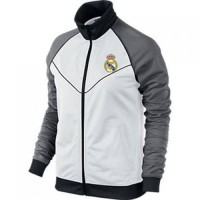 Jaket Bola Sporty White Grey Real Madrid - BAF020