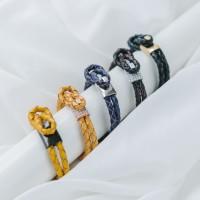 Gelang Kulit STRAPS- BOS Swarovski Zirconia - Premium Leather Design