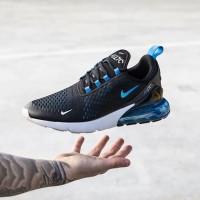 Sneakers Sepatu Nike Air Max 270 Turqoise Blue Black