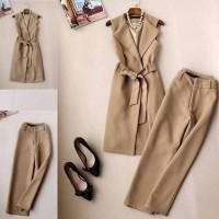 Setelan Wanita Baju Blazer Celana Panjang Fashion Kerja Formal elegan