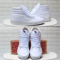 Sepatu Vans SK8 High Classic Full True White BNIB Original Premium