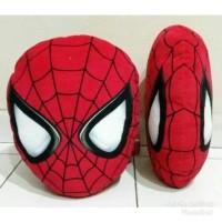Bantal Mobil Boneka Kepala muka Superhero Spiderman Bagus Halus Lembut