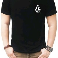 T-Shirt Kaos Distro Fashion Pria 100 Cotton Combed 30s Volcom