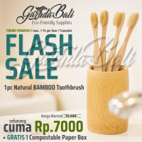 GARUDABALI Sikat Gigi Bambu Kayu Alami Bamboo Natural Toothbrush Hotel