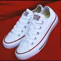 sepatu Converse all star klasic cewek & cowok warna putih list merah