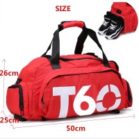 Tas Ransel dan Duffel Gym Bag - T60 - Red