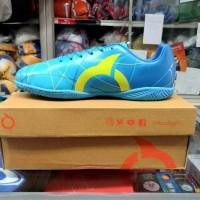 Sepatu Futsal Ortuseight Ventura In Blue Pale Cyan Miniom Yellow .