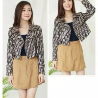 Baju atasan Wanita / Jaket Wanita / Jaket Crop - FASHION FENDI