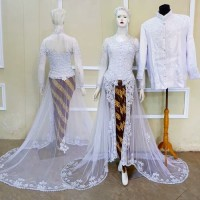 kebaya akad couple baju pegantin modern