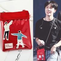 Tas mini selempang Jhope BTS love yourself MD Free Sticker isi 18pcs
