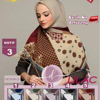 Jilbab Segi Empat Lilac Cotton French Motif 3 By Damia Scarf -Kerudung