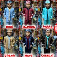 Pakaian Muslim Anak BORDIR Baju Setelan Koko Gamis Anak Elegan MARUNO