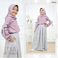 Lexa set / baju setelan muslim anak perempuan usia 8-10 tahun