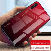 Tempered Case Glass Back Cover Casing Samsung Galaxy A50