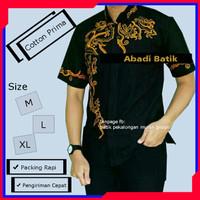 baju batik kombinasi pria batik pekalongan untuk anak muda