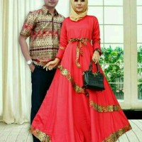 Batik Couple Sarimbit Gamis Baju Pesta Seragam Keluarga Modern