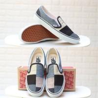 Sepatu Vans Slip On Patchwork Denim BNIB Original Premium
