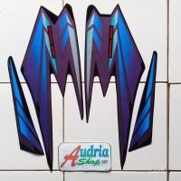 Striping Stiker Motor Yamaha Rx King 2002 Hitam-Biru