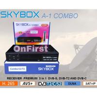 Receiver Parabola DVBS2 + DVBT2 Skybox A1 Combo AVS+ H265 Set Top Box