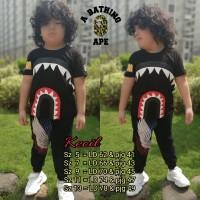Kaos anak Bape Hitam Mirror quality 1:1 original