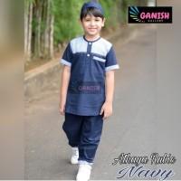 Setelan Baju Koko Anak Bahan Katun / Pakaian Muslim Anak Laki Laki