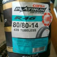 Ban Corsa Platinum Tubeless 80/80-14 R46 Racing Soft Compound