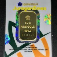 50 GR (GRAM) PRESS HIJAU LOGAM MULIA/LM/EMAS BATANGAN ANTAM