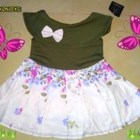 Uk 1-2 Sabrina kerah baju anak perempuan baju bayi
