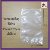 Vacuum Bag 15X25 80Micron plastik vacum sealer bag termurah