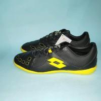 Sepatu Futsal Lotto Squadra IN Black Jet Black Sunshine last stok